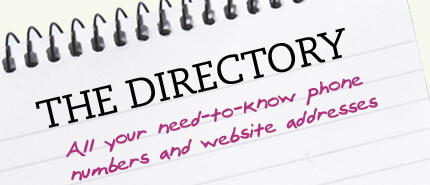 Directory - All your need-to-know phone numbers and website addresses