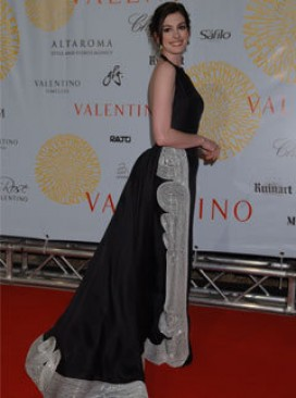 Anne Hathaway at the Valentino show in Rome