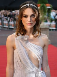 Marie Claire celebrity photos: Keira Knightley at the premiere of Atonement