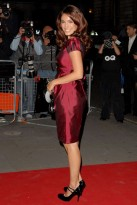 Everyone's wearing... maroon: Kelly Brook