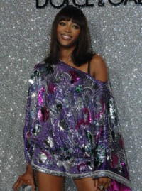 Naomi Campbell at Dolce and Gabanna Party at cannes 2007