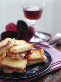 Brie and cranberry croque monsieur