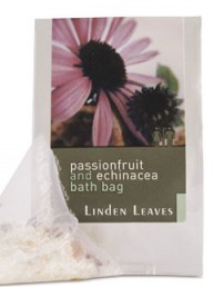 Linden Leaves passionfruit and echinacea bath bag