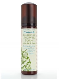 Crabtree & Evelyn Naturals Comforting Shower Foam in Milk, Soy and Sugar