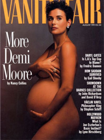 Demi Moore on the cover of Vanity Fair in 1991
