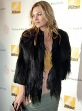 Kate Moss in fur jacket