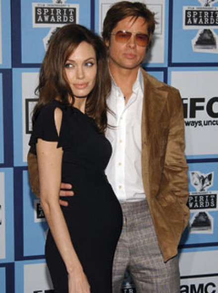 Angelina Jolie and Brad Pitt at The Independent Spirit Awards