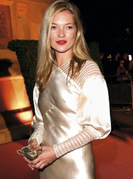 Kate Moss in vintage at The V&A's Golden Age of Couture