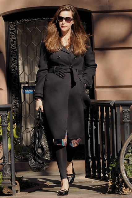 Liv Tyler leaving her house in New York