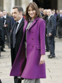 Carla Bruni in London for French State Visit