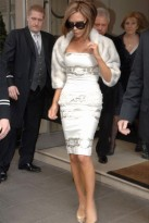 Victoria Beckham leaving Claridges after celebrating her mother's 60th birthday