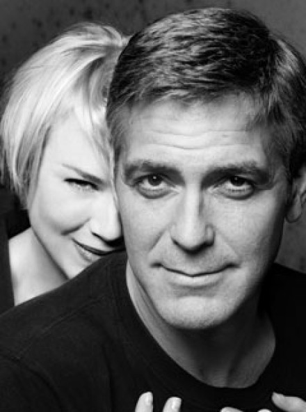Marie Claire celebrity photos: george Clooney and Renee Zellweger