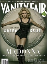 Madonna on the cover of Vanity Fair