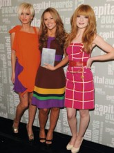 Girls Aloud's Nicola Roberts, Kimberley Walsh and Sarah Harding