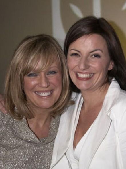 Marie O'Riordan and Davina McCall