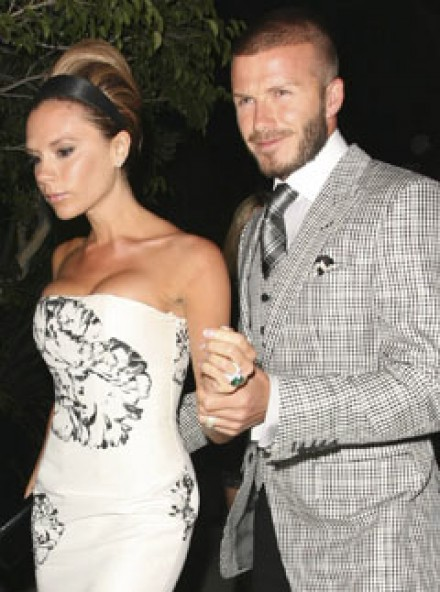 Marie Claire celebrity photos: Victoria Beckhams birthday party, David & Victoria Beckham