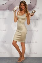 Gisele Bundchen at the launch of her shoe range, Ipanema, in Berlin