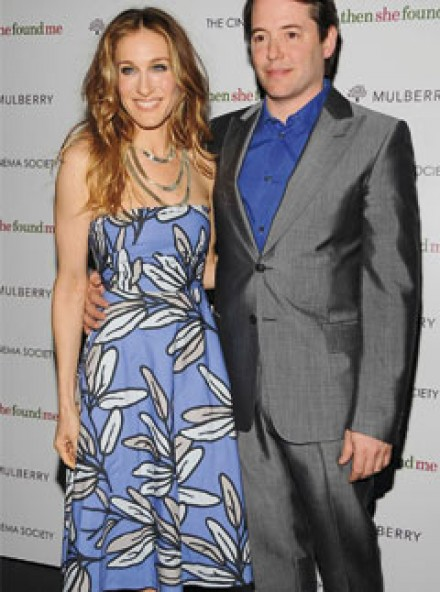 Sarah Jessica Parker and Matthew Broderick at the Then She Found Me premiere