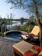 Splash pool and sun beds in Djuma Bush Lodge in Kruger National Park South Africa