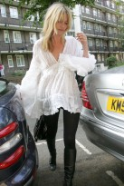 Kate Moss visiting a friend in West London