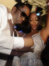 Marie Claire celebrity news: Naomi Campbell and P.Diddy party in Cannes