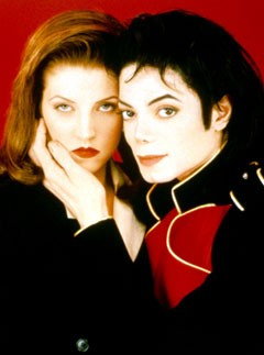 Lisa-Marie Presley and Michael Jackson