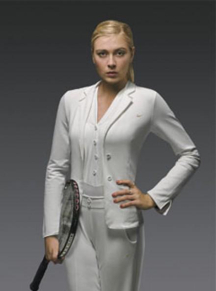 Maria Sharapova in her Nike tuxedo