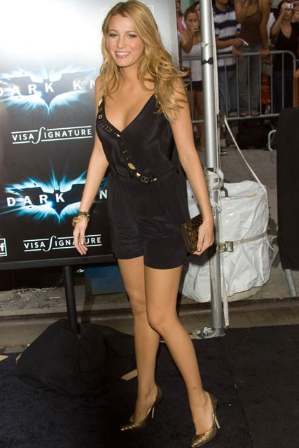 Marie Claire celebrity photos: Batman Premiere, Blake Lively