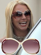 Britney Spears wearing Roberto Cavalli sunglasses