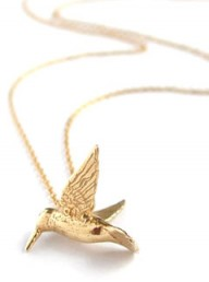 Marie Claire Fashion: Buy of the day, Alex Monroe Hummingbird necklace