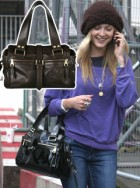 Fearne Cotton carrying a Mulberry Mable bag