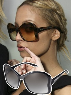 Nicole Richie wearing Prada Butterfly sunglasses