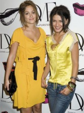 Leighton Meester and Jessica Szohr at Diane Von Furstenberg
