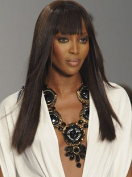 Marie Claire celebrity photos: Naomi Campbell on the catwalk at the Issa S/S 2009