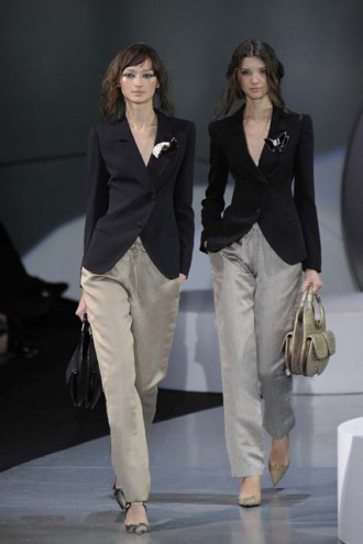 Marie Claire Fashion: Milan Fashion Week: Giorgio Armani S/S 2009