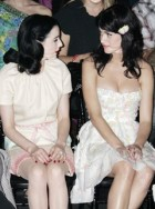 Marie Claire celebrity news: Dita Von Teese and Katy Perry on the front row at Dior