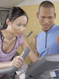 Marie Claire Health Features: Woman with personal trainer