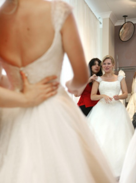 Brides hunt for wedding dresses at oxfam marie claire for Oxfam wedding dress shop