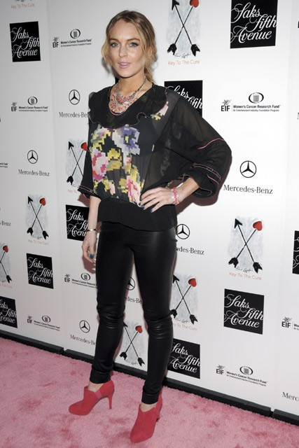 Marie Claire Celebrity Photos: 10th Annual Key to the Cure Charity Shopping Weekend, Lindsay Lohan