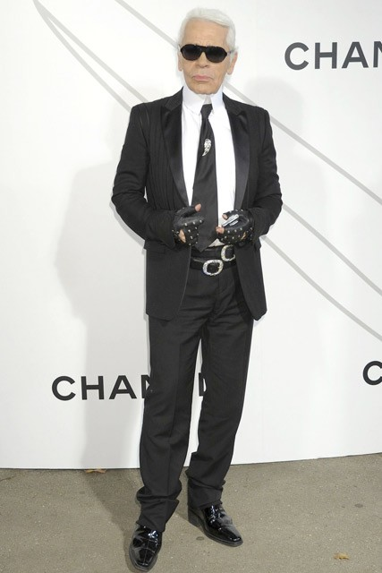 Marie Claire Celebrity Photos: Chanel Contemporary Art Opening,Karl Lagerfeld