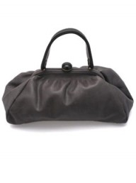 Grey leather bag by Lie Down I Think I Love You