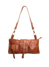 Lollipop London tan satchel