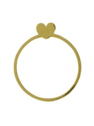Saskia Diez gold love ring