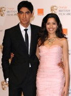 Dev-Patel-and-Freida-Pinto-British Academy Film Awards 2009, Celebrity Photos, Red Carpet, Marie Claire