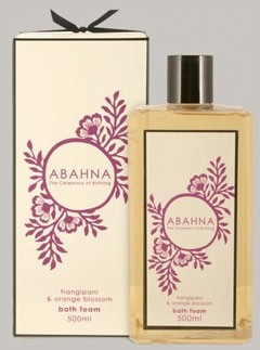 Abahna frangipani &amp; orange blossom bath foam