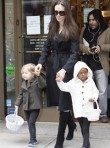 Angelina Jolie, Zahara and Shiloh in New York