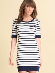 Reiss Cashmere Mix Stripe Knit Mini Dress