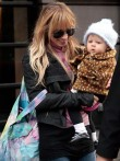 Nicole Richie and daughter Harlow in New York