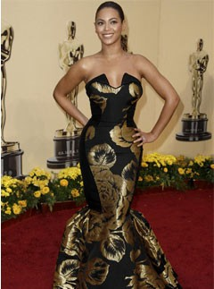 Beyoncé Knowles at the 2009 Oscars