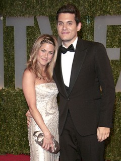 Jennifer Aniston and John Mayer at the Vanity Fair Oscars 2009 Party
